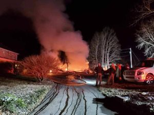 Structure fire Tri-Township