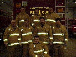LTVFD Firefighters in Turn-out Gear purchased under the Indiana DNR/USDA Forest Service 2002 Grant Project.