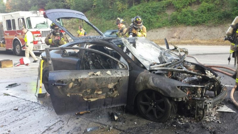Vehicle Fire on I 64 West Thursday Images