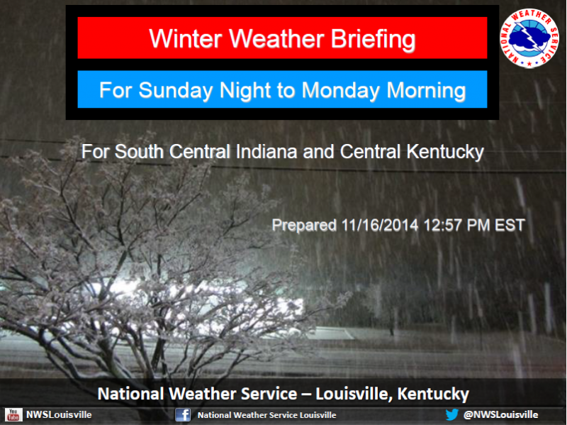 Louisville NWS Issues Weather Briefing For Winter Storm