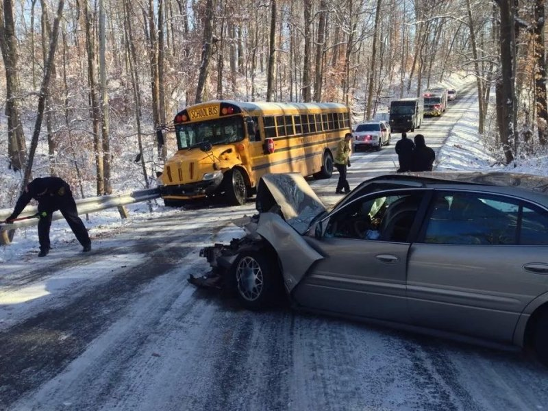 Morning Crash Involves School Bus.