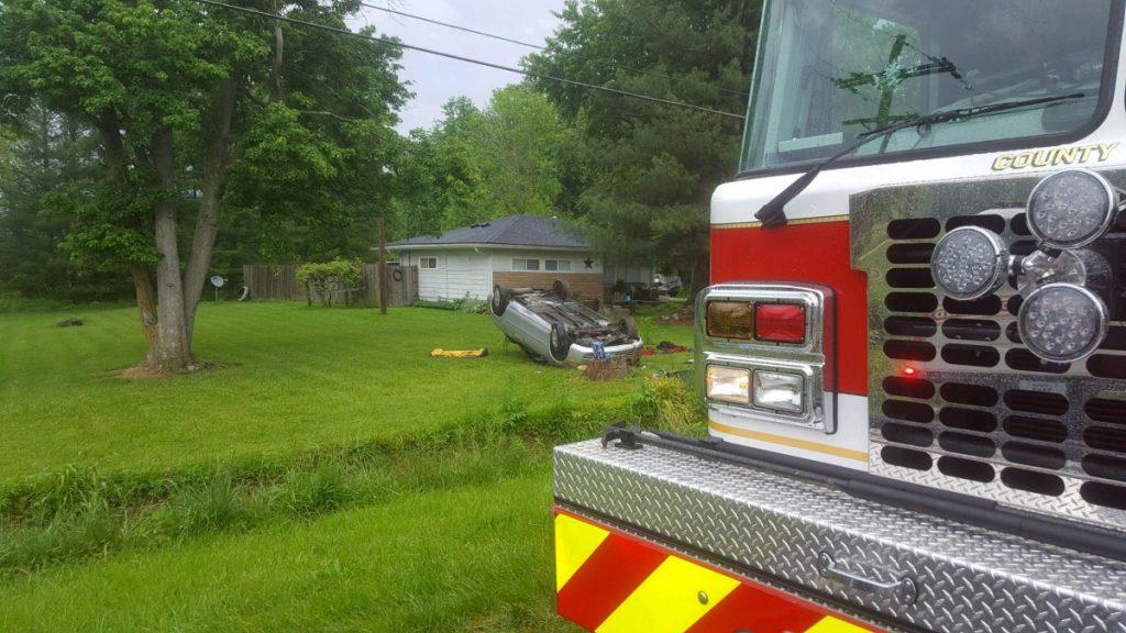 Lafayette Twp Responds to Injury Crash On US 150 Near Borden Road