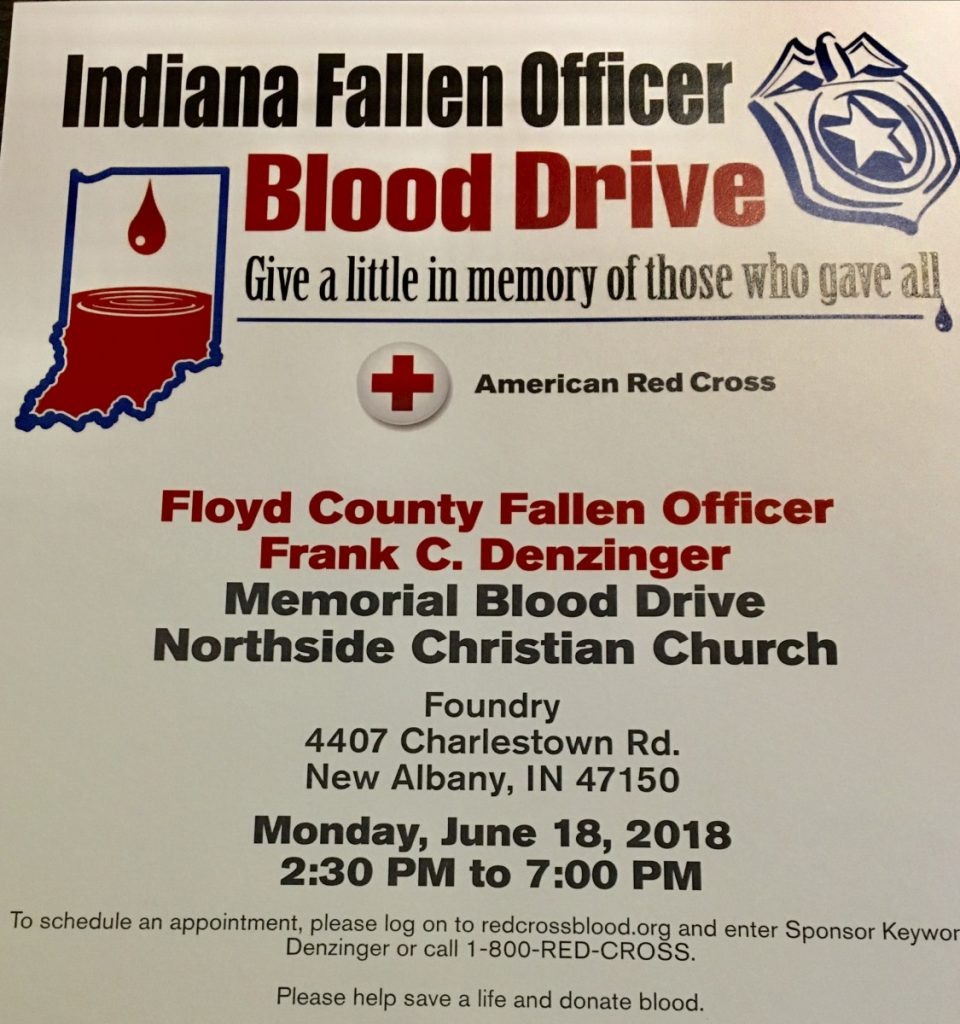 Indiana Fallen Officers Blood Drive June 18th 2018
