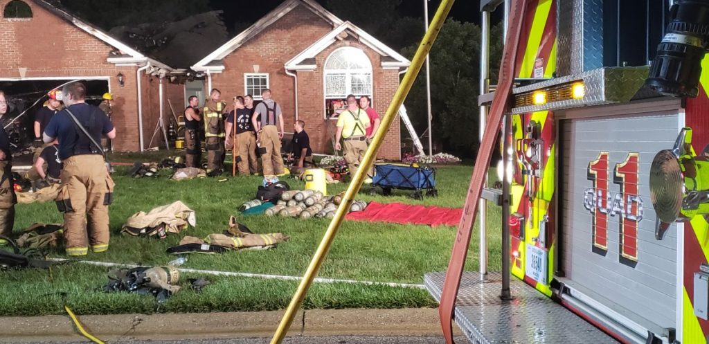 2 Alarm House Fire Damages Home on Andrew Dr In Floyds Knobs On Tuesday