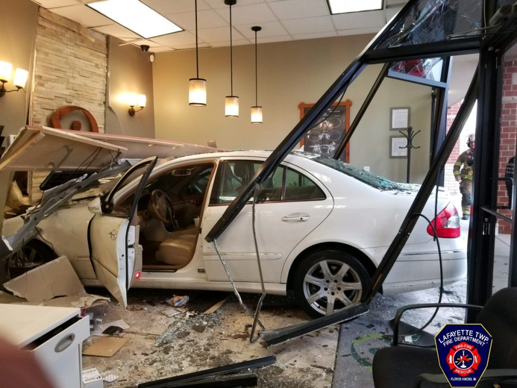Vehicle Crashes Into Building Monday Afternoon